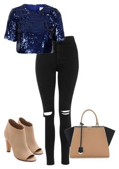 """""""Untitled #251"""" by xoxo-maneshass on Polyvore featuring Topshop, Fendi and Vince"""