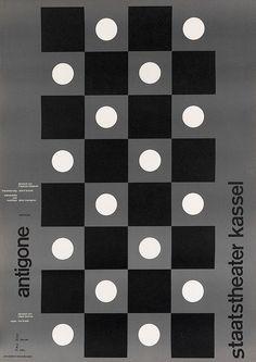 Almir Mavignier, Antigone, Staatstheater Kassel, 1970s