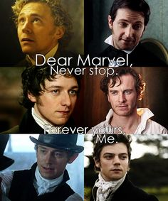 Tom Hiddleston, Richard Armitage, James McAvoy, ,,,,, JJ Feild, and ..... Well, I know the ones I like...