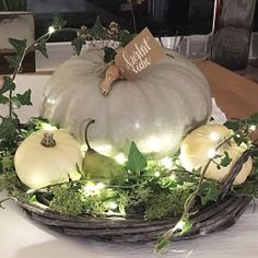 Ideas and Inspirations: Herbstliche Tischdekoration * fall table setting