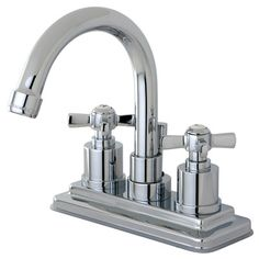 Kingston Brass Millennium Double Handle Centerset Bathroom Faucet