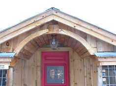 Arched Entryway  |  TIMBER TRAILS:  Enabling cabin, cottage, and tiny house builders with resources for fast, efficient, and affordable housing alternatives.  Live Large -- Go Tiny!  > >  TimberTrails.TV