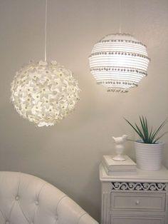 Lampes en papier customisées