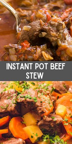 This Instant Pot Beef Stew (With A Secret Ingredient) is the BEST red meat stew with fork-gentle red meat, potatoes, and veggies in a rich, savory gravy that is prepared in an hour. Beef Stew Makes A Perfect Cold Weather… Continue Reading → Beef Meatloaf Recipes, Best Beef Recipes, Quick Recipes, Slow Cooker Recipes, Yummy Recipes, Cooking Recipes, New Recipes For Dinner, Dinner Menu, Instant Pot