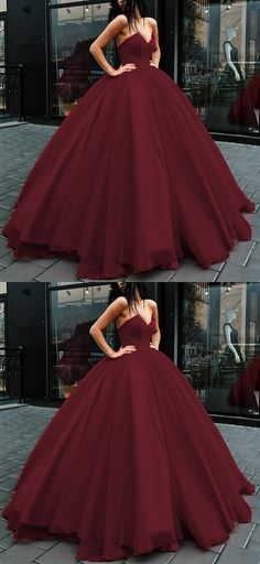 burgundy tulle ball gowns wedding dresses 2018 puffy bridal gowns