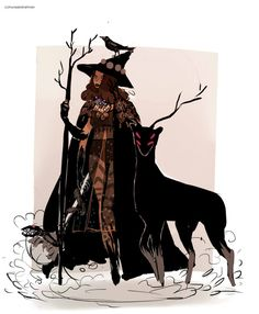 """wakaju: """" The golden death witch from my witch series, i finally sat down and did some new illustration for it! here are the others witches 5 8 [Print Shop Open finally] """" Character Concept, Character Art, Concept Art, Witch Drawing, Witch Characters, Maleficarum, Under Your Spell, Witch Art, Witch Aesthetic"""