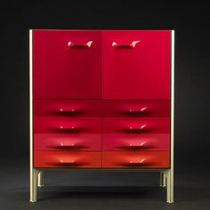 "Raymond Loewy ""DF-2000"" cabinet, France, c. 1970."