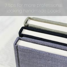 paperiaarre | 7 tips for more professional looking handmade books | http://www.paperiaarre.com