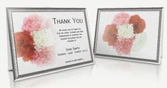 Funeral Programs Templates - Professional and Editable Thank You Card Sample, Sympathy Thank You Cards, Funeral Thank You Cards, Program Template, Templates, Store, Floral, Stencils, Tent