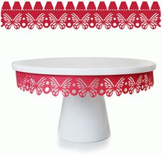 Silhouette Online Store - View Design #59454: butterfly cake plate embellishment