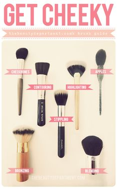 Beat Face Tools- If you are considering buying a full makeup brush set for the holidays you will need to know how each brush is properly used. Here are a few examples of the most common facial brushes used to highlight contour apply blush and bronzer. All Things Beauty, Beauty Make Up, Hair Beauty, The Beauty Department, How To Apply Blush, Tips Belleza, Contouring And Highlighting, Makeup Contouring, Bronzer Vs Contour