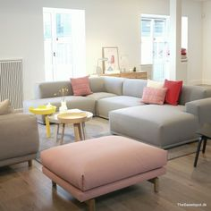 The perfect sofa Sofa Styling, Living Dining Room, Home And Living, Interior Design, Home Living Room, Bedroom With Ensuite, Muuto Sofa, Lounge Sofa, Furniture Design