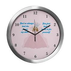 Cute Glinda Clock with the quote from The Wizard of Oz: You've always had the power, my dear. You just had to learn it for yourself. Pink movie clock @ Epic Love Shop