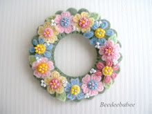 flowery wreath pin