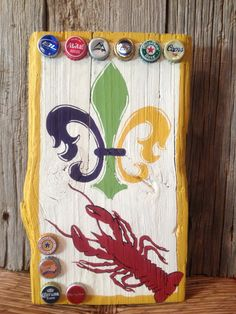 Mardi Gras/Crawfish New Orleans Hand Painted Wood Signs.     I am soooooo doing this.