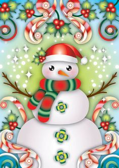 by Catalina Estrada Snowman Snow Globe, Christmas Snow Globes, Christmas Colors, Christmas Snowman, Christmas And New Year, Christmas Holidays, Xmas, Christmas Images, Merry Christmas