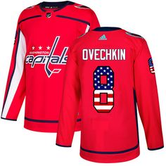 Adidas Capitals  8 Alex Ovechkin Red Home Authentic USA Flag Stitched Youth  NHL Jersey Adidas 6cf8b3aa2