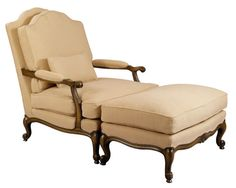 Louis J Solomon Louis XV Armchair & Ottoman Traditional Styles, Solomon, Recliner, Ottoman, Armchair, Lounge, Furniture, Home Decor, Chair