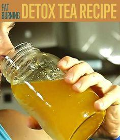 Detox Tea Recipe; green tea, turmeric, lemon juice, honey, cayenne (optional)