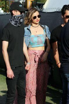 Miranda Kerr wearing Prada Gold Metallic Leather Thong Sandals