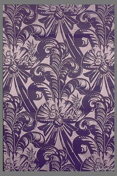 """Paris"" Textile Louis Süe  (French) Date: ca. 1923 Medium: Silk Accession Number: 23.175.8"