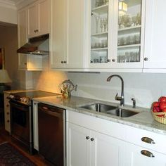 Glass Cabinet Over Sink Design Ideas, Pictures, Remodel, and Decor
