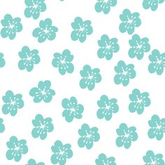 lilliesTurpuoise fabric by maredesigns on Spoonflower - custom fabric