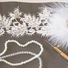В процессе... Свадебный пояс с аппликацией из кружева, люневильской вышивкой золотым бисером, бусинами и пайетками, а также цветок из кружева и перьев, сраз сваровски. Скоро можно будет приобрести здесь: antoshka-13.livemaster.ru #свадьба #свадебныйпояс #кружево #пайетки #жемчуг #цветы #wedding #weddingaccesories #bride #невеста #люневильскаявышивка #вышивка #lavkacraft #lace #сваровски #стразы #handmade_fifi #handmade_myideas