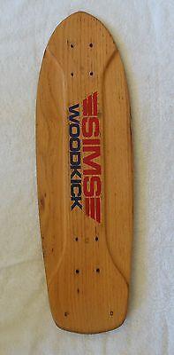 Vintage Sims Woodkick skateboard deck - RARE version
