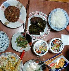 10月16日(木) 晴れ カボチャサラダ 天ぷら いんげん豆のごま和え ピーマンの肉詰め キムチ 63.4