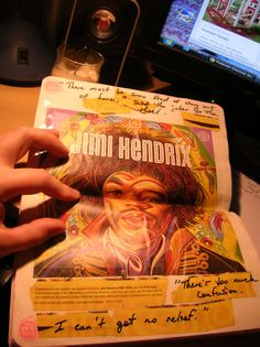 Wreck This Journal. Some of the pages were lame. Not anymore. Jimi Hendrix. ~Leslie D. Soule
