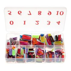 ROSENICE French False Acrylic Gel Nail Art Tips Artificial Nail Half with Box Salon Set - 540 Pieces ** Want additional info? Click on the image.