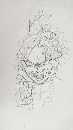 40 ideas tattoo dragon ball manga for 2019 Dragon Z, Dragon Ball Gt, Dbz Drawings, Ball Drawing, Dragon Ball Image, Tattoo Zeichnungen, Neue Tattoos, Desenho Tattoo, Anime Sketch