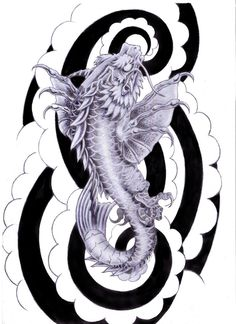 ☆ Koi Dragon Tattoo Design :¦: Art By ~Tylerrthemesmer ☆