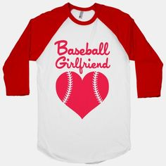 I want this soooo bad! :( I would wear this to all Morgan's games! Show your love and pride for your hunky baseball boyfriend with this sporty shirt! Hot Baseball Guys, Baseball Girlfriend Shirts, Baseball Couples, Baseball Boyfriend, Softball Shirts, Boyfriend Shirt, Boyfriend Gifts, Baseball Stuff, Softball Stuff