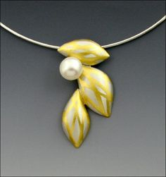 Wisteria: Judith Neugebauer: Silver, Gold & Pearl Necklace | Artful Home