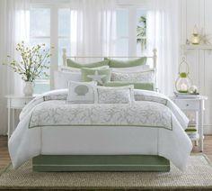 beach themed master bedrooms | Beach Bedroom Decor Bedding Photograph | Savvy Posh | Beach