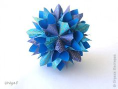 Master class Kusudama Origami Tutorial Poseidon Photo Paper 1