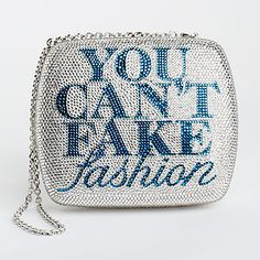 Judith Leiber~ You Can't Fake Fashion crystal handbag~ CFDA~ against counterfeit designer goods