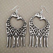 Giraffe Earrings - Made from Recycled Wood - Lightweight Earrings *NEW* Zoo