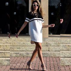 Preto & branco super trendy da @bettys_dudes lá no blog hoje! ♠️♣️ E tem mais looks lindos por lá, já conferiram? A loja tem óculos incríveisss também, vale a pena conhecer! 😎❤️ #reuchoa #ootd #blackandwhite #escolhasdarê