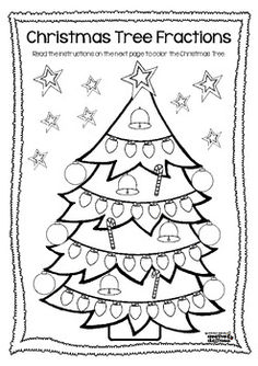 Christmas Tree Fractions FREEBIE - Michelle Walker - TeachersPayTeachers.com