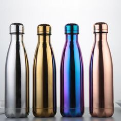 Bright color Vacuum double layer stainless steel sport water bottle