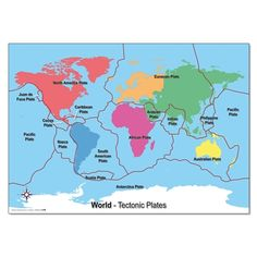 Buy world map of volcanoes cartography pinterest volcano a simple world map designed to identify and locate the worlds tectonic plates gumiabroncs Choice Image