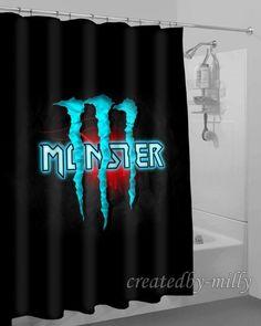 Black Luxury Monster Energy Logo Design High Quality Shower Curtain 60 x 72 Inch #Unbranded #Modern #New #Hot #Best #Custom #Design #Home #Decor #Bestseller #Movie #Sport #Music #Band #Disney #Katespade #Lilypulitzer #Coach #Adidas # Beauty #Harry #Bestselling #Kid #Art #Color #Brand #Branded #Trending #2017