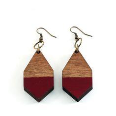 DIAMANTE earrings Burgundy