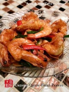 """CHINESE QUICK-FRIED PRAWNS: ~ From: """"Full Of Knowledge.Com."""" ~ Published by April Z on Feb. 04, 2014 ~ Cooking Time: 20 min; Ready in: 1 hr; Difficulty: Medium; Yield: (4 servings) ~ This is a famous traditional Chinese feast dish, particularly in areas to the north of Yangzi River."""