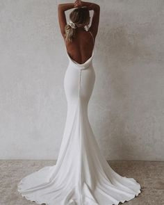 21 Sophisticated Backless Wedding Dresses ❤ backless wedding dresses sexy simple with spaghetti straps beach made with love #weddingforward #wedding #bride