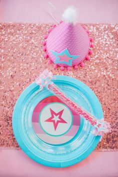 American Girl Inspired Birthday Party. American Doll party plates by Just a little Sparkle and CreateURPlate
