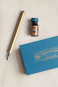 Buy J. Herbin - Writing Set - Calligraphy Dip Pen & Ink - Bleu Myosotis by J. Herbin from NoteMaker.com.au & receive FREE shipping on Aust orders over $99 & I/N orders over $199